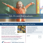 The Independence School chalkboard direct mail